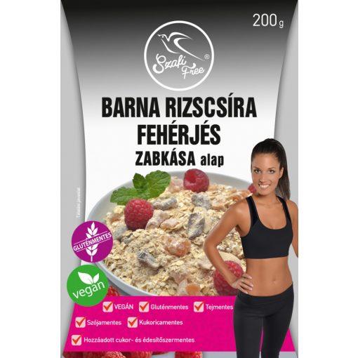 Szafi Free Barna rizscsíra fehérjés zabkása alap gluténmentes, vegán (200g)