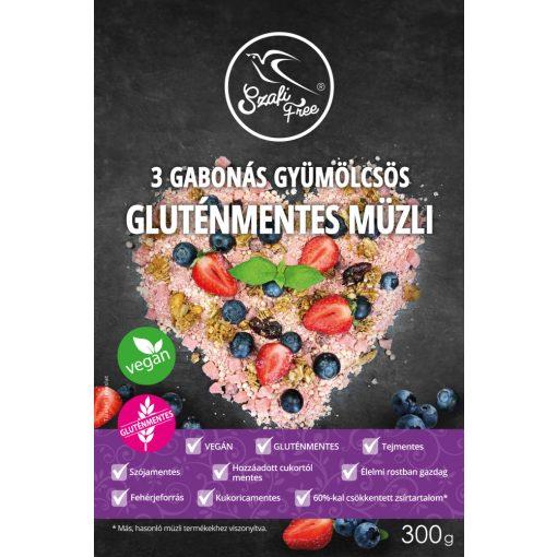 Szafi Free 3 Gabonás gyümölcsös müzli (300g)