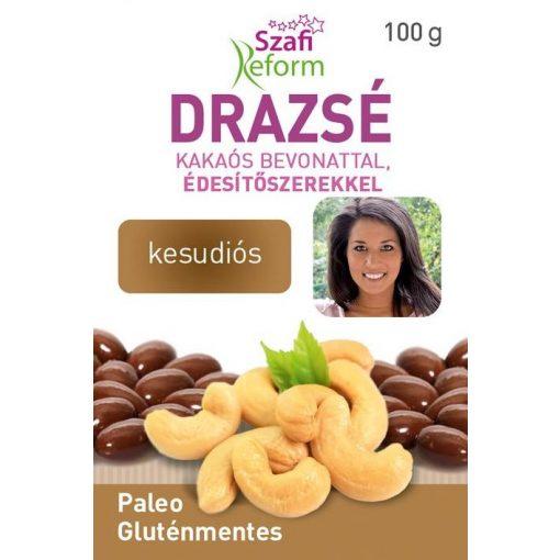 Szafi Reform Kesudiós drazsé kakaós bevonattal, édesítőszerekkel (100g)