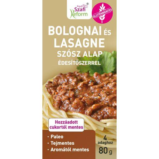 Szafi Reform bolognai és lasagne szósz alap édesítőszerrel (80g)