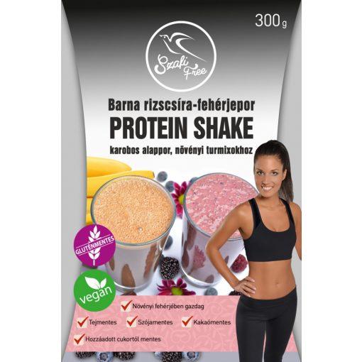 Szafi Free barna rizscsíra-fehérjepor PROTEIN SHAKE karobos alappor, növényi turmixokhoz (300g)