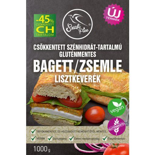 Szafi Free csökkentett szénhidrát-tartalmú gluténmentes bagett / zsemle lisztkeverék (1000g)