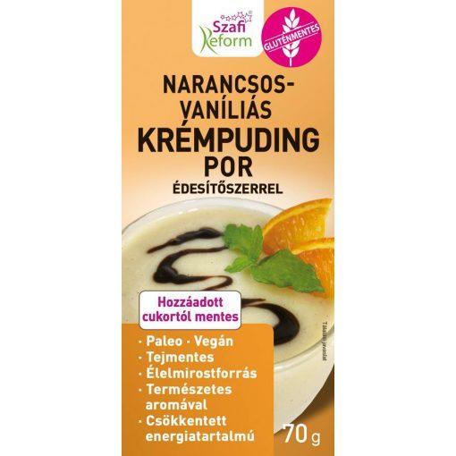 Szafi Reform Narancsos-vaníliás, krémpudingpor édesítőszerrel (70g)