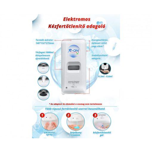 R-ON Hygienics Elektromos kézfertőtlenítő adagoló