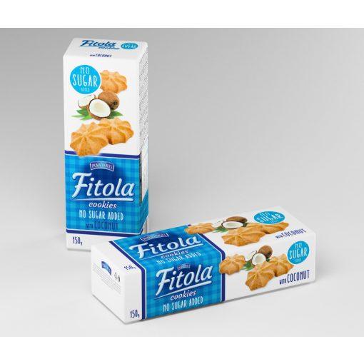 Fitola kókuszos keksz hozzáadott cukor nélkül (130g)