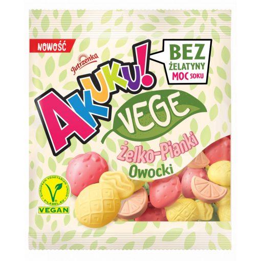 Akuku vegán cukorka, gyümölcs ízű (75g)