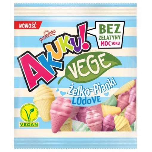 Akuku vegán cukorka, jégkrém forma, gyümölcs ízű (75g)