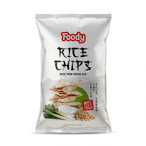Foody Free rizs chips hagymás-tejfölös (50g)