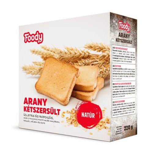 Foody Arany kétszersült natúr (220g)