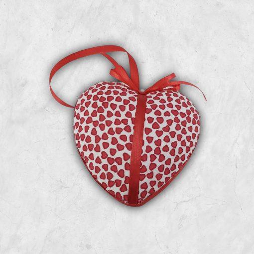 Kéuműves ajándék szív piros