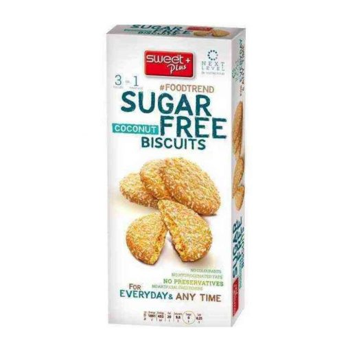 Sweet Plus cukormentes keksz kókuszos (100g)