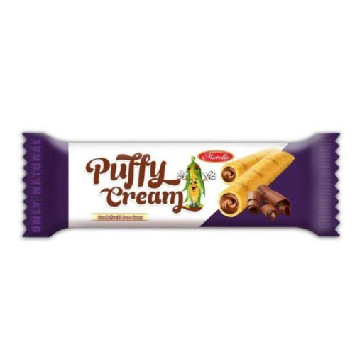 Puffy Cream kakaós krémmel töltött gluténmentes kukoricarud (18g)