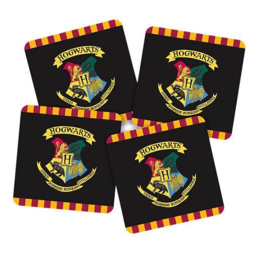 Harry Potter Hogwarts poháralátét szett (4DB)