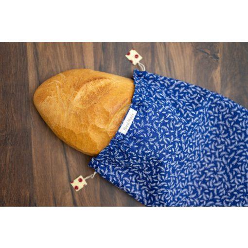 Kézműves öko kenyereszsák 'Kék'