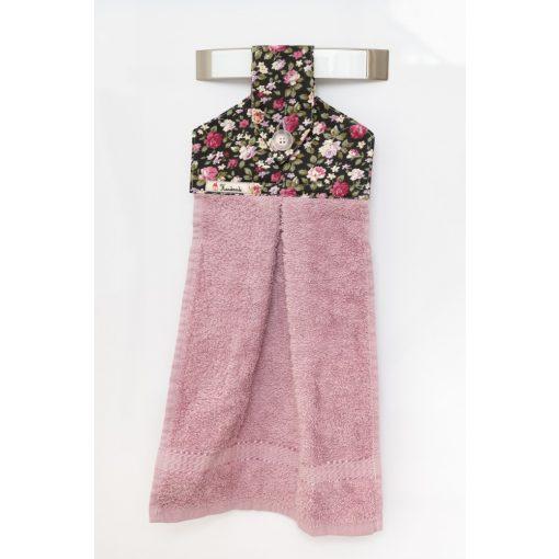 Kézműves öko kéztörlő Rózsaszín