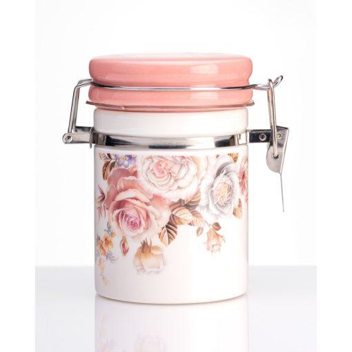 Rózsás csatos porcelán tárolóedény 100ml