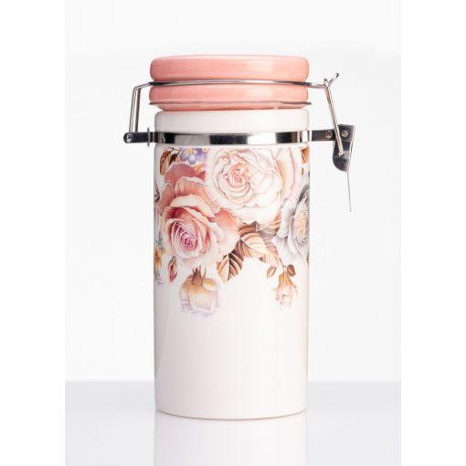 Rózsás csatos porcelán tárolóedény 250ml